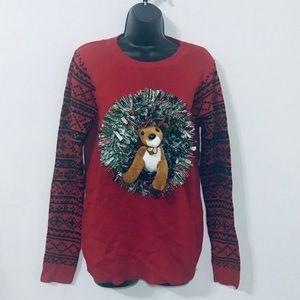 No Boundaries Reindeer Reed Ugly Christmas Sweater